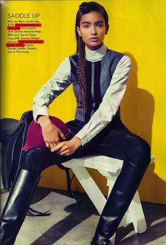 Ariat boots and shirt in September issue of Teen Vogue