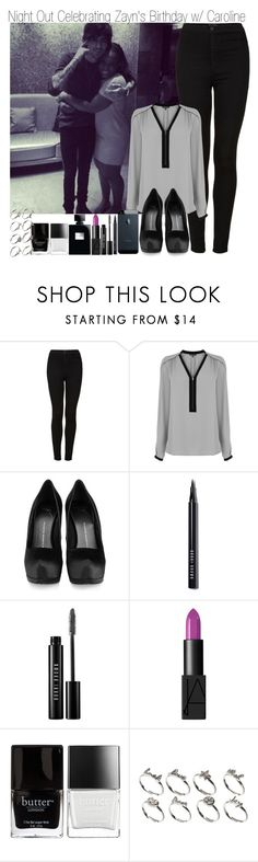 """""""Night out Celebrating Zayn's Birthday with Caroline"""" by elise-22 ❤ liked on Polyvore featuring Topshop, Warehouse, Giuseppe Zanotti, Bobbi Brown Cosmetics, NARS Cosmetics, Butter London and ASOS"""