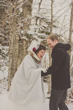 winter wedding love