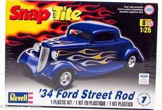 Revell 1934 Ford Street Rod 85-1943 1/25 Snap Together Plastic Model Kit