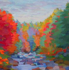 "Contemporary Painting - ""Below Jackson Falls"" (Original Art from Brian Kiernan)"
