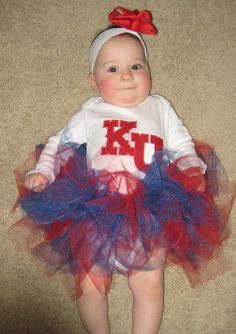 Our future baby girl will need a KU & Florida tutu!