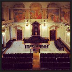 University of Pisa, Italy. L'aula magna storica del palazzo della Sapienza