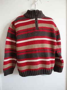 Size Small Girls ~ *Gymboree - Nice Dark Red/Brown & White LS Sweater!