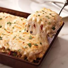 Creamy White Chicken and Artichoke Lasagna (for when cream cheese and mozzarella can be tolerated; use brown rice lasagna noodles; omit Parmesan; use almond milk)