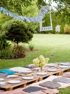 Baby Shower – garden party w klimacie boho Garden Party Decorations, Table Decorations, Under Construction, Outdoor Furniture, Outdoor Decor, Babyshower, Design, Home Decor, Fotografia
