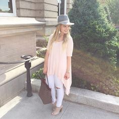 Loving this blush & gray combo! My hat is from the #NSALE and I linked my…