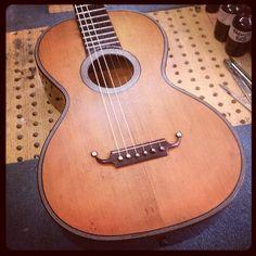#guitar old parlour guitar after restoration