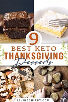 9 Best Keto Thanksgiving Desserts | Living Chirpy Desserts To Make, Low Carb Desserts, Holiday Desserts, Keto Holiday, Holiday Meals, Healthy Desserts, Holiday Recipes, Whole Food Recipes, Snack Recipes