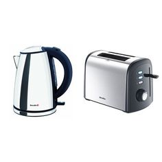 Breville VKJ472 Polished Stainless Steel Compact Jug Kettle and VTT375 Polished Stainless...
