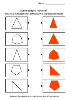 Printable brain teaser worksheets for kids in preschool, kindergarten, grade draw line to match each outline on the left with its color shapes on the right. Preschool Homework, Preschool Worksheets, Math Activities, Lessons For Kids, Math Lessons, Maths For Beginners, Printable Brain Teasers, Visual Perception Activities, Dots Game