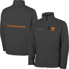 Tennessee Volunteers Columbia Ascender Bonded Softshell Jacket - Gray