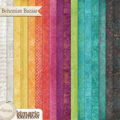 11 shabby colorful solid papers and 17 beautiful distressed patterned papers from the Bohemian Bazaar pagekit, created at 300 dpi in jpg format. PU/S4H/S4O uses.