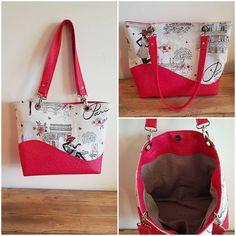 Emilie DA SILVA sur Instagram: Modèle sac Samba de @patrons_sacotin en simili autruche et jacquard #couture #sacotin#merceriedescreateurs