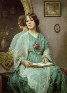 Ethel Porter Bailey (1872-1944) Reflections 1921.