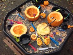This is just a pic, but what a great idea! Exploring pumpkins with different tools by @shawbo: