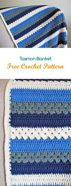 Tasman Blanket Free Crochet Pattern #crochet #crafts #homedecor #handmade #blanket