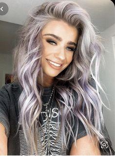 Gorgeous Lavender Long Hairstyles for 2019 can find Lavender and more on our website.Gorgeous Lavender Long Hairstyles for 2019 Lilac Hair, Ombre Hair, Balayage Hair, Wavy Hair, Thin Hair, Pastel Lavender Hair, Silver Purple Hair, Silver Lavender Hair, Light Purple Hair