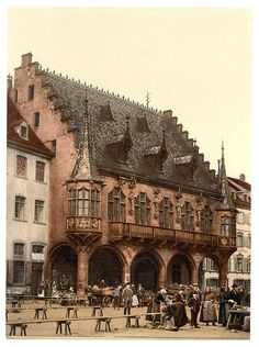 The market, Freiburg, Baden, Germany c.1890-1900