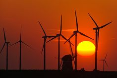 Wind Turbine, Prints, Canvas, Products, Sunset, Wall Canvas, Art Print, Tela, Canvases