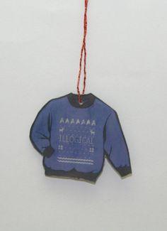 Star Trek Spock Ugly Christmas Sweater Ornament by GeekEcrafts Star Trek Spock, Ugly Christmas Sweater, Being Ugly, Fandom, Christmas Ornaments, Stars, Etsy, Christmas Jewelry, Christmas Ornament