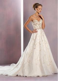 Fabulous Tulle Sweetheart Neckline A-line Wedding Dresses with Beaded  Embroidery   Rhinestones. Wedding Bridesmaid ... 01db0e3f9621