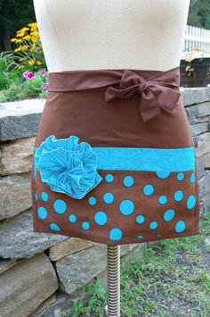 Your place to buy and sell all things handmade Waitress Apron, Half Apron, Cookie Monster, Crafts To Do, Aprons, Aunt, House Warming, Craft Projects, Polka Dots