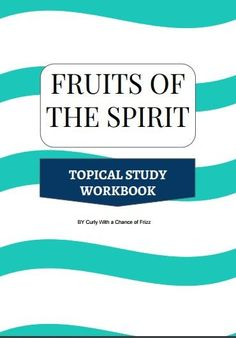 Christians have heard the fruits of the spirit recited over and over again to them. Here's a free workbook to help you study and dig deeper into the fruits.