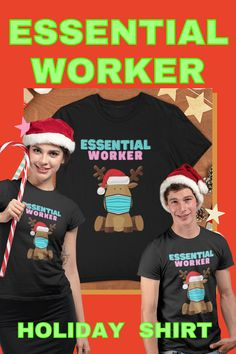 REINDEER ARE JUST SMART ENOUGH TO WEAR FACE MASK... - GREAT GIFT - $16.99 - IN STOCK NOW - CLICK LINK TO BUY SHIRT