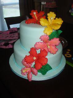 hawaiian themed cakes   Hawaiian Theme Birthday Cake Directions Cookeatshare Pictures