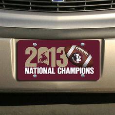 Florida State Seminoles (FSU) 2013 BCS National Champions Football Printed Acrylic Plate