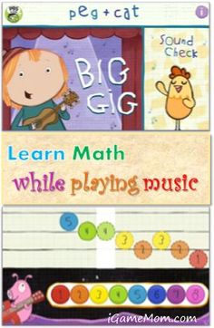 A fun math and music app for pre-K and K kids #kidsapps #MathApps #MusicApps