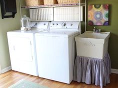 laundry sink skirt . diy . i have a large sqaure laundry room sink that is getting a fabulous diy skirt now <3 .