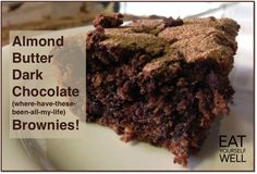Almond Butter Dark Chocolate (wherehavethesebeenallmylife) Brownies! July 16, 2014 by Jennifer Silverberg Leave a Comment