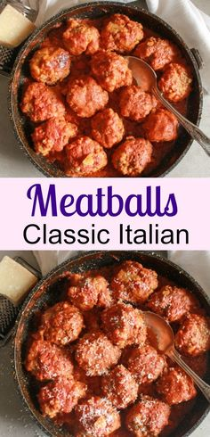 Meatballs, the best and most delicious authentic homemade Italian recipe for meatballs (polpette) in a tasty tomato sauce. Dinner is ready! anitalianinmykitchen.com