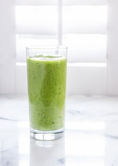 Mango Spinach Green Smoothie | www.kitchenconfidante.com  Stay healthy this holiday season with this super tasty green smoothie!