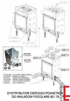 LANORDICA FOCOLARE 760 Dystrybutor Ciepłego Powietrza - NORDICA - wkłady żeliwne - Wkłady Kominkowe - SKLEP INTERNETOWY - kominki, piece, wkłady, grille