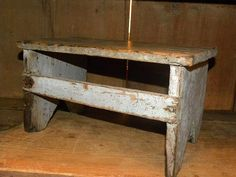 old bench   http://www.pinterest.com/ctrywd/old-benches-stools-chairs-rocking-chairs-bucket-be/    http://www.pinterest.com/lanawales/stools-and-benches/
