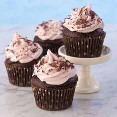 Chocolate Strawberry Banana Cupcake (gluten free)