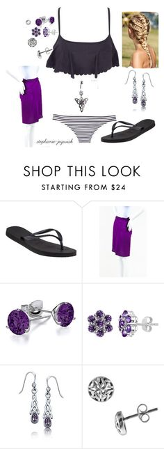 """""""Miranda's Swimsuit for Becca's BBQ and Swim Party"""" by stephanie-jozwiak ❤ liked on Polyvore featuring dELiA*s, Havaianas, Eres, Bling Jewelry and Journee Collection"""