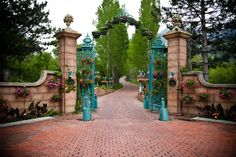 French Country Dining - La Caille and A French Country PIcnic Salt Lake Restaurants, French Restaurants, Country Picnic, French Country Dining, Front Gates, Salt Lake City Utah, Front Entrances, French Chateau, Water Garden