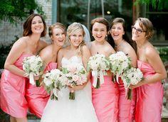Southern wedding - pink bridesmaid dress