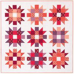 """""""Genny & Ruth"""" quilt designed by Elizabeth Hartman. Features Kona Cotton and Rhoda Ruth by Elizabeth Hartman. Petal colorstory."""