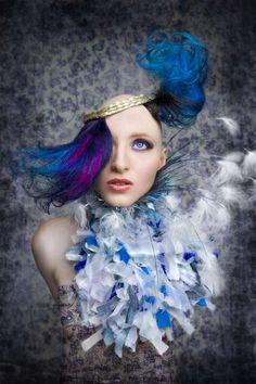 Jake Garn's 'Goddess' Series Blends Bald Caps, Curls & Color #hairstyles trendhunter.com