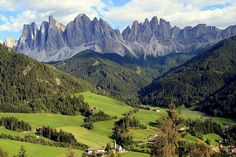 Dolomiti during spring or summer. Probably better that winter.