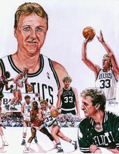 This is an illustration I did of legendary Boston Celtics Hall of Fame inductee Larry Bird.  Artwork was featured on the cover of Celtic's Pride Magazine March 1993.  Original art 16x20 done in marker.