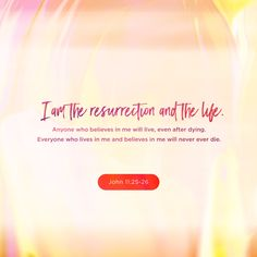 """John Jesus said to her, """"I am the Resurrection and the Life. Whoever believes in (adheres to, trusts in, relies on) Me [as Savior] will live even if he dies; and everyone who lives and believes in Me [as S John 11 25 26, Miracles Of Jesus, Who Is Jesus, God Jesus, Amazing Inspirational Quotes, New American Standard Bible, Amplified Bible, Finding Jesus, New Living Translation"""