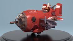 Bunny Plane, Kaleb Rice on ArtStation at https://www.artstation.com/artwork/zmorm