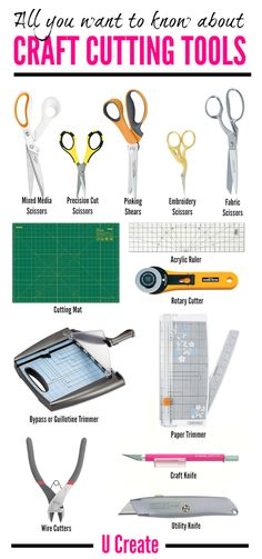 Craft - Diy All about Craft Cutting Tools: save time, be safe, protect your project, and mak. Sewing Tools, Sewing Hacks, Sewing Crafts, Crafts To Make, Arts And Crafts, Paper Crafts, Kids Crafts, Paper Craft Supplies, Creation Deco