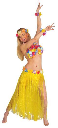 6a1220fb754 Hawaii-inspireret sæt i gult voksen, køb Kostumer til voksne på Vegaoo.dk